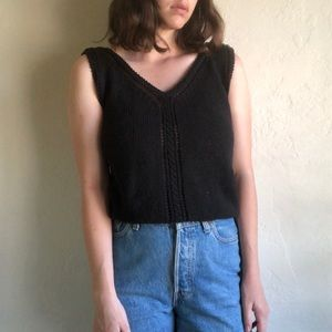 [vintage] Christian Dior black knit tank